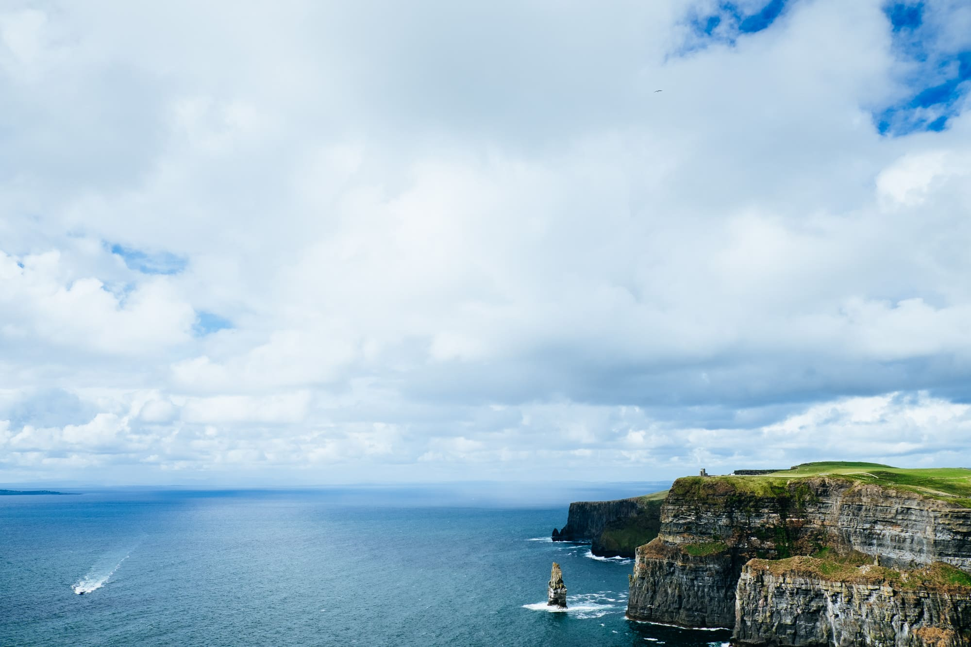 The Cliffs of Moher in Ireland on a sunny day. Photo (c) Rory O'Toole