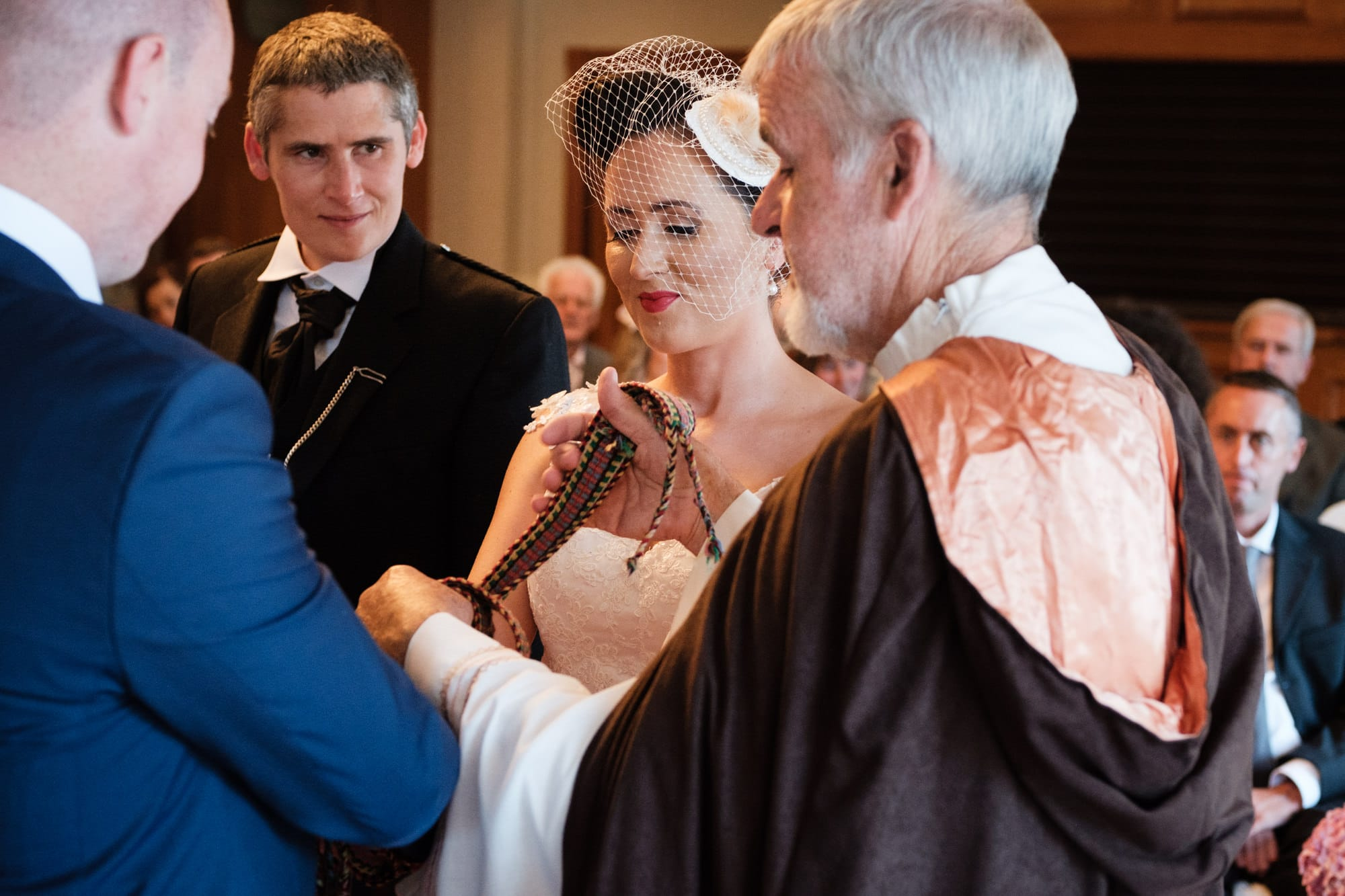 hand fasting ceremony at wedding