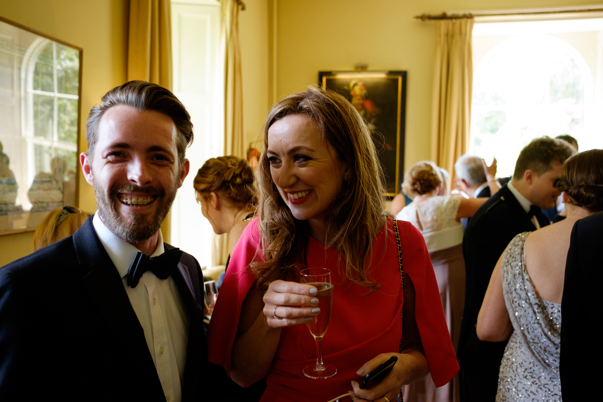 wedding guests at ballymaloe house