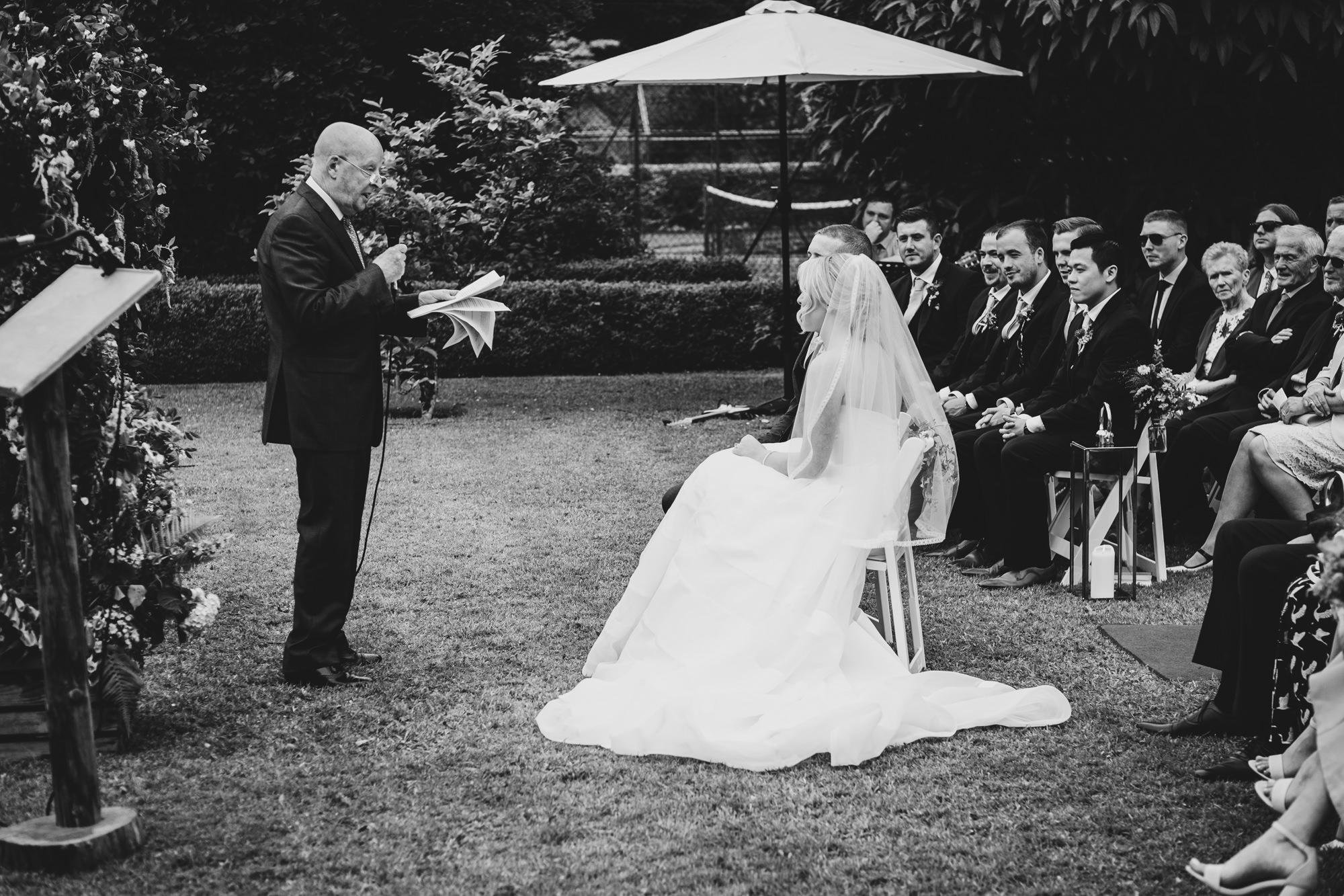 Outdoor wedding at Rathsallagh Country House